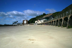 Folkestone beach, Kent. Low tide in Folkestone, Kent Royalty Free Stock Photo