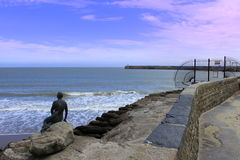 Folkestone-Hafen-Meerjungfrau Kent Großbritannien Lizenzfreies Stockfoto