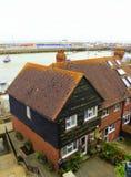 Folkestone Harbour houses England Royalty Free Stock Photo