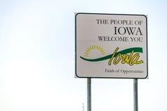 Folket av den Iowa välkomnandet som du undertecknar Royaltyfri Fotografi
