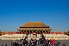 Folket besöker den imperialistiska slotten Arkivbild