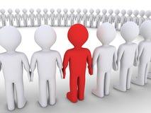 Folket bildar en stor cirkel, och en är olik Arkivbild