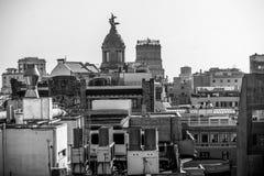 folket för barcelona blurrörelse shutter gator för långsam hastighet Royaltyfri Foto