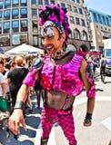 Folket firar Christopher Street Day i Munich Fotografering för Bildbyråer