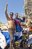 Folket firar Christopheren Royaltyfri Bild
