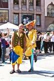 Folket firar Christopheren Royaltyfria Bilder