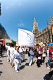 Folket firar Christopheren Royaltyfria Foton