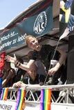Folket firar den Christopher gatadagen Fotografering för Bildbyråer
