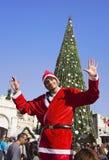Folket firar jul i Nazareth Arkivbild