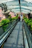 Folket går på rulltrappan Arkivbild