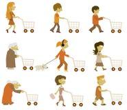 Folket grupperar (shopping) Fotografering för Bildbyråer