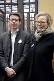 Folket kedjar fast för jews i Danmark Arkivfoto