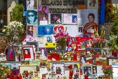 Folket minns Michael Jackson Arkivfoton