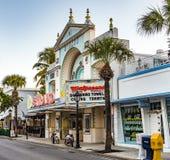 Folket på den Key West bioteatern strandar i Key West Arkivbilder
