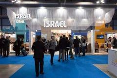 Folket som besöker Israel, står på biten 2014, internationellt turismutbyte i Milan, Italien arkivbilder