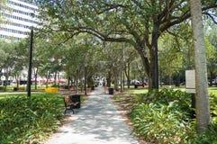 Folket som tycker om parkera i Lykes gasbelysning, parkerar, Tampa Florida Royaltyfria Foton