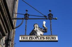 Folkets berättelsemuseet i Edinburg Arkivfoto
