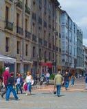 Folkgata Vitoria-Gasteiz Spanien royaltyfri fotografi