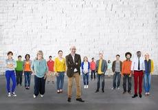 Folkgemenskapsamhörighetskänsla företags Team Concept Arkivfoton