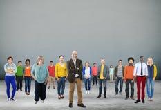Folkgemenskapsamhörighetskänsla företags Team Concept Arkivbilder