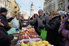 Folkhandelfrukter Fotografering för Bildbyråer