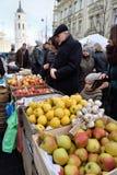 Folkhandelfrukter Royaltyfri Fotografi