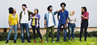 Folkkamratskapförhållande Team Togetherness Concept Arkivbild
