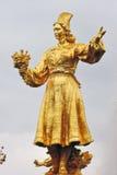 Folkkamratskapspringbrunnen på VDNKH parkerar i Moskva Royaltyfri Fotografi