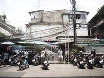 Folkliv i Bangkok Arkivfoto