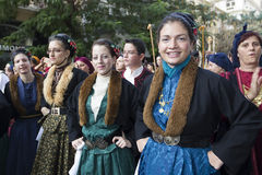 Folklor grecka grupa zdjęcie stock