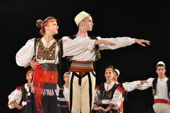 Folklore albanés fotografía de archivo libre de regalías