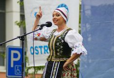 Folklore without borders 2016. The festival is listed in the official calendar of festivals and feasts supported by the Czech Folklore Association since 1998 Royalty Free Stock Photos