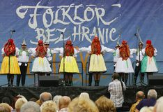 Folklore without borders 2016. The festival is listed in the official calendar of festivals and feasts supported by the Czech Folklore Association since 1998 Stock Photos