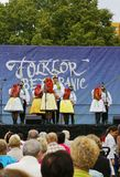 Folklore without borders 2016. The festival is listed in the official calendar of festivals and feasts supported by the Czech Folklore Association since 1998 Royalty Free Stock Photo