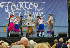 Folklore without borders 2016. The festival is listed in the official calendar of festivals and feasts supported by the Czech Folklore Association since 1998 Royalty Free Stock Image