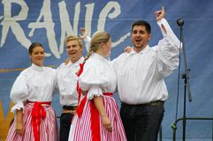 Folklore without borders 2016. The festival is listed in the official calendar of festivals and feasts supported by the Czech Folklore Association since 1998 Royalty Free Stock Images