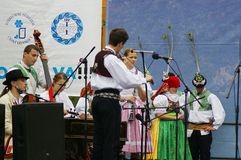 Folklore without borders 2016. The festival is listed in the official calendar of festivals and feasts supported by the Czech Folklore Association since 1998 Stock Photo