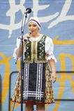 Folklore without borders 2016. The festival is listed in the official calendar of festivals and feasts supported by the Czech Folklore Association since 1998 Stock Photography