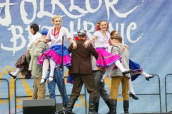 Folklore without borders 2016. The festival is listed in the official calendar of festivals and feasts supported by the Czech Folklore Association since 1998 Stock Images