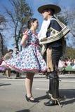 Folklore chilien traditionnel Photo libre de droits