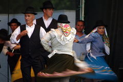 Folklore dancing in Algarve. Folklore dance - the Rancho of Santo António de Arenilha royalty free stock photo