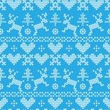 Folklore deer pattern seamless Stock Photo