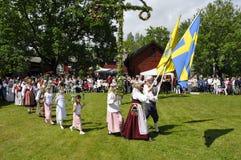 Folklore ensamble de Suecia fotografía de archivo libre de regalías