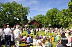 Folklore ensemble of Sweden Stock Photo