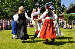Folklore ensemble of Sweden Royalty Free Stock Photo