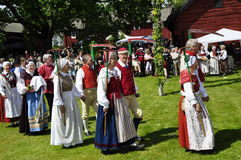 Folklore ensemble of Sweden Stock Photos