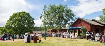 Folklore ensemble of Sweden Royalty Free Stock Images