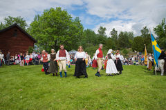 Folklore ensemble of Sweden Royalty Free Stock Photos