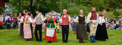Folklore ensemble of Sweden Stock Photos