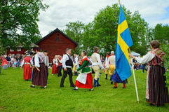Folklore ensemble of Sweden Royalty Free Stock Image